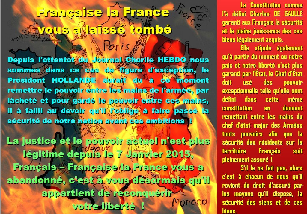 LA FRANCE NOUS A LAISSE TOMBE